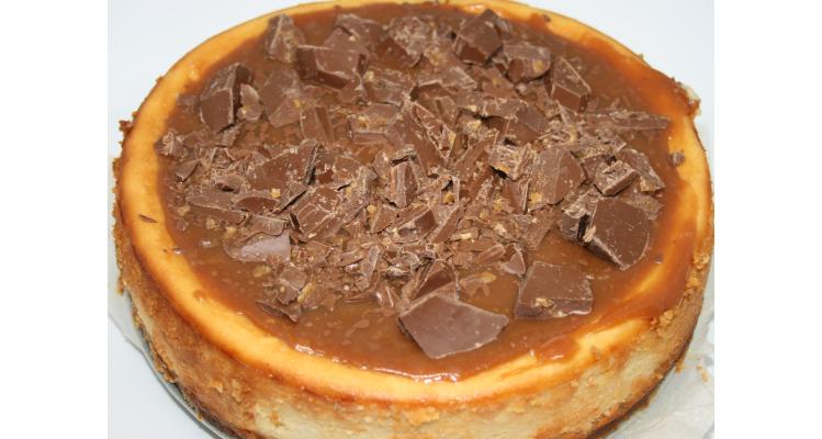 Cheesecake met salted caramel