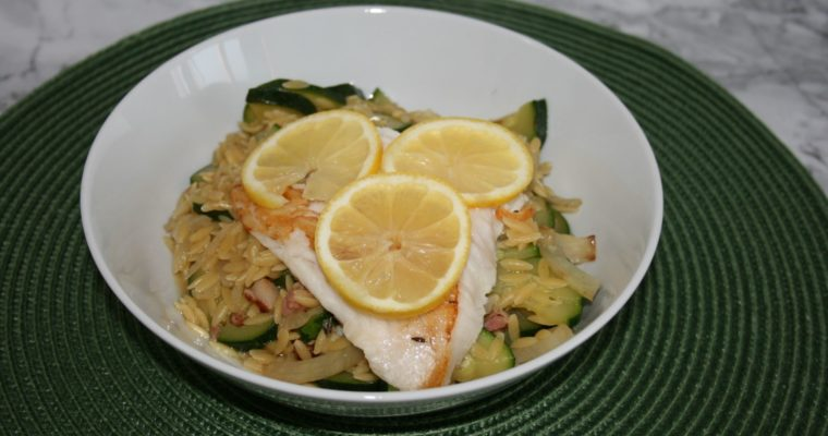 Orzo risotto met vis
