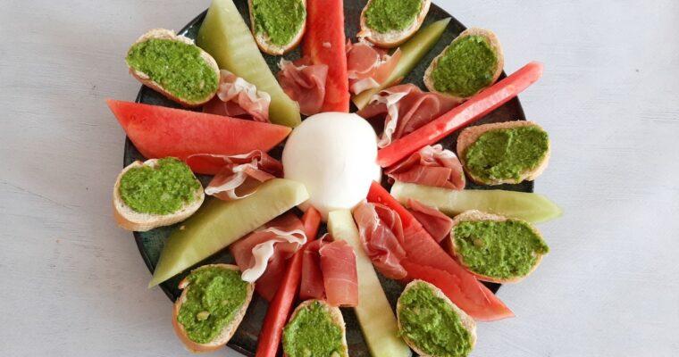 Meloen salade met parmaham