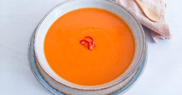 Wortelsoep met tomaat
