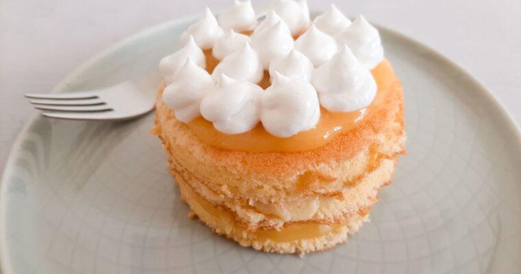 Lemon curd taartje met meringue