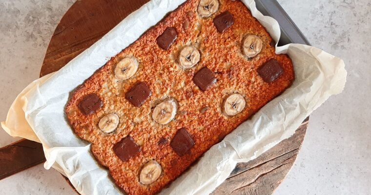 Bananenbrood plaatcake