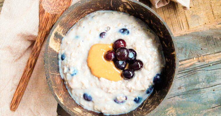 Blueberry muffin havermoutpap