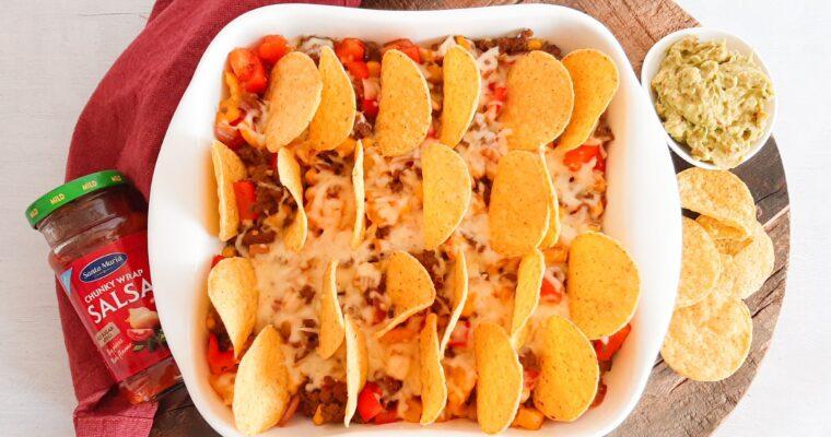 Mexicaanse ovenschotel met nachos