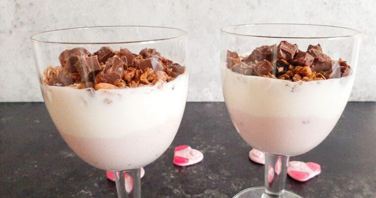 Yoghurt toetje in glas