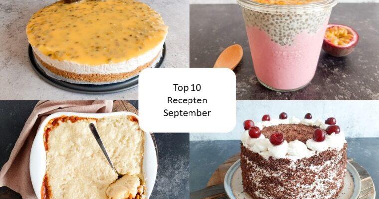Top 10 recepten van september