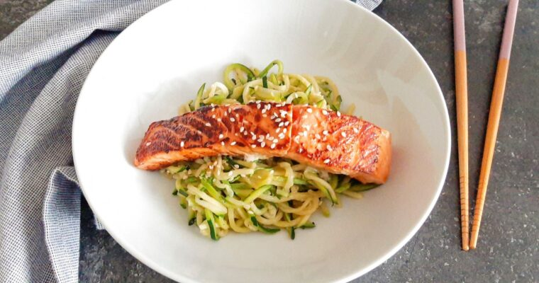 Courgetti met Oosterse zalm