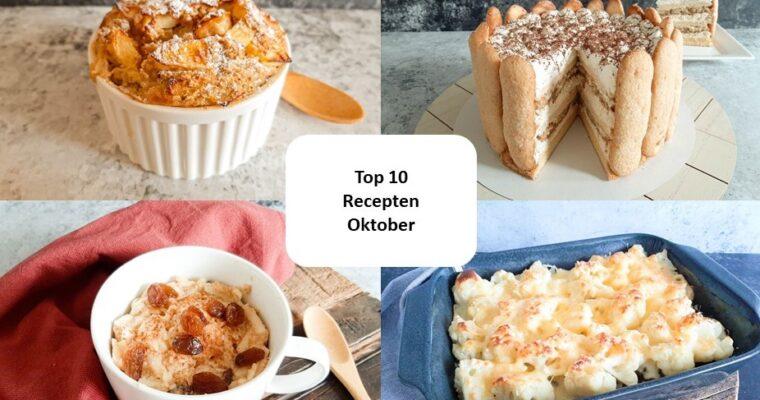 Top 10 recepten van oktober