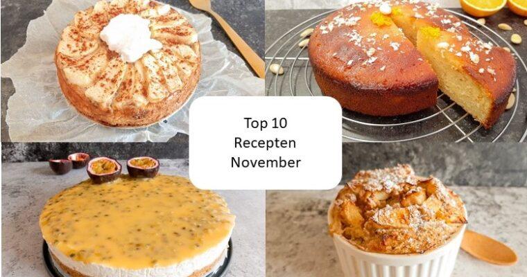Top 10 recepten van november
