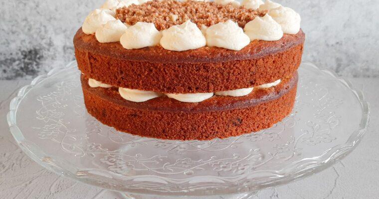 Carrot cake met roomkaasfrosting