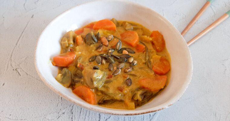 Curry madras soep met noodles