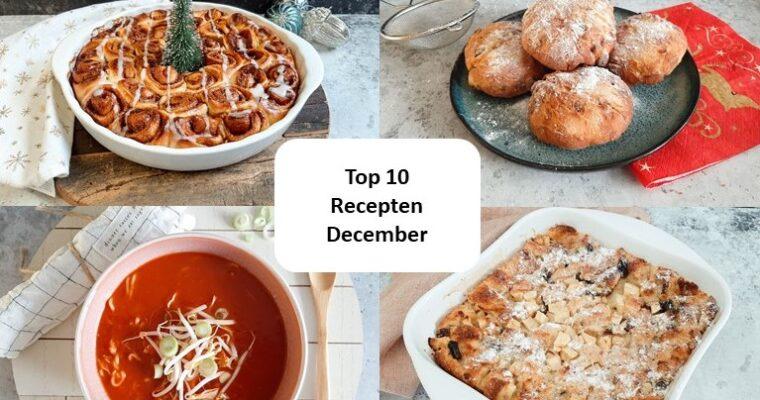 Top 10 recepten van december