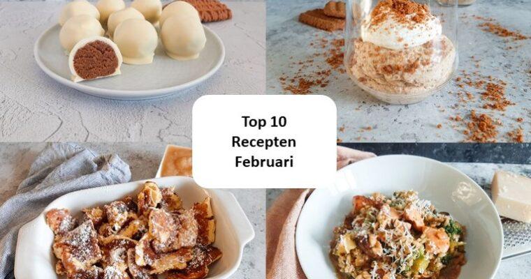 Top 10 recepten van februari – 2021