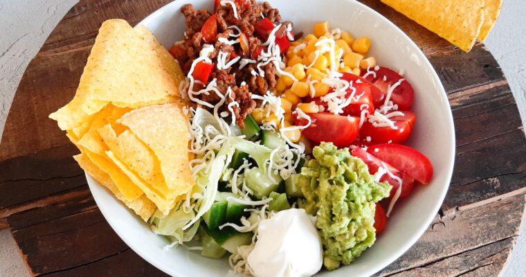 Taco bowl met gehakt