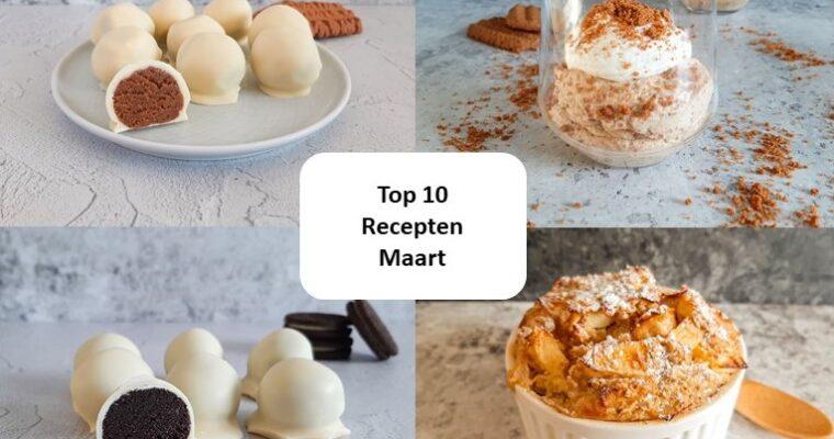 Top 10 recepten van maart – 2021
