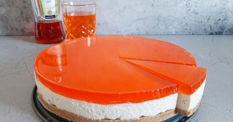 Aperol Spritz cheesecake
