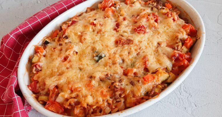 Italiaanse rijst ovenschotel