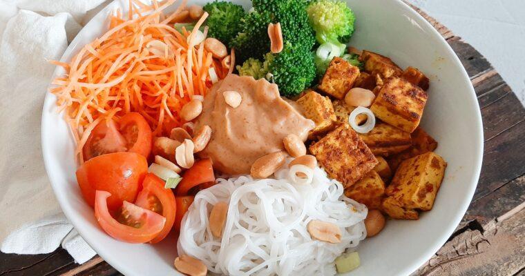 Noodlebowl met tofu