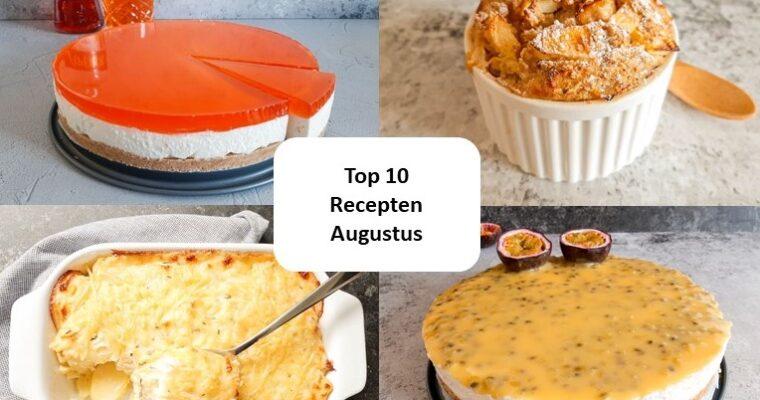 Top 10 recepten van augustus – 2021