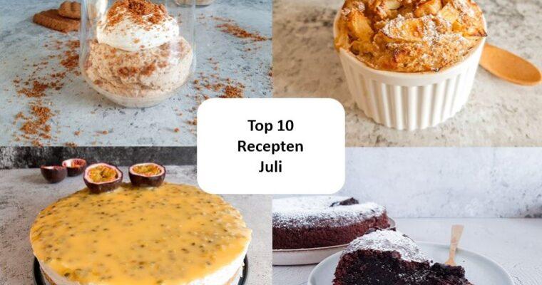 Top 10 recepten van juli – 2021